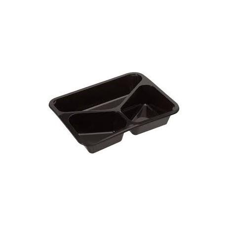 CPET 3-vak schaal zwart (ds.300 st)