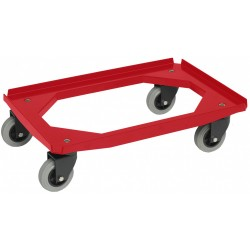 Dollie mover  rubberen wiel   rood