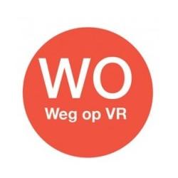 Afwasbare Sticker 'Wo weg op Vr' 19mm 500/rol