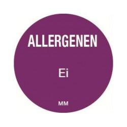 Allergie sticker 'Ei' rond 25 mm, 1000/rol