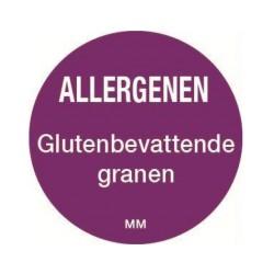 Allergie sticker 'Granen' rond 25 mm, 1000/rol