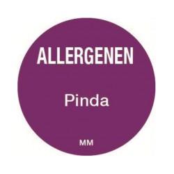 Allergie sticker 'Pinda' rond 25 mm, 1000/rol