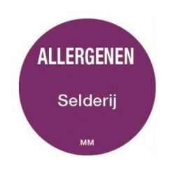 Allergie sticker 'Selderij' rond 25 mm, 1000/rol