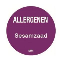Allergie sticker 'Sesamzaad' rond 25 mm, 1000/rol