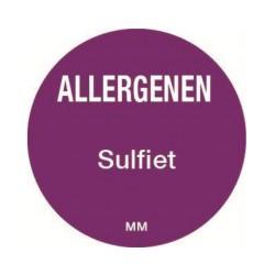 Allergie sticker 'Sulfiet' rond 25 mm, 1000/rol
