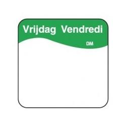 Vol. Oplosbare Sticker 'Vrijdag' 25mm, 500/rol