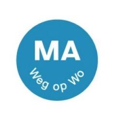 Perm. Sticker 'Ma weg op Wo' 1000/rol