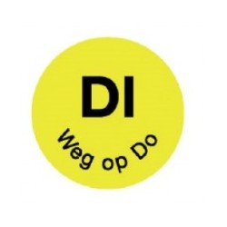 Perm. Sticker 'Di weg op Do' 1000/rol