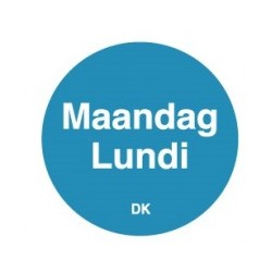 Permanente Sticker 'Maandag' 1000/rol