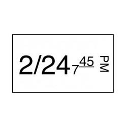 Stickerrol 1-lijnspist. Vol. Oplosbaar 750/rol