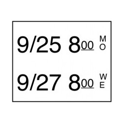Stickerrol 2-lijnspist. Makk. Verwijderbaar 750/rol