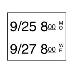 Stickerrol 2-lijnspist. Vol. Oplosbaar 500/rol