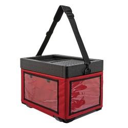 Beach Box met textielen tas rood