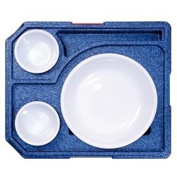 Diner box +2 voor rond bord (met servies)
