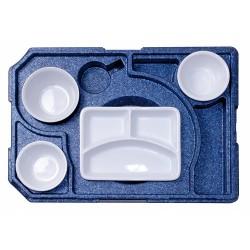 Diner box +3 tbv rechthoekig schaal (met servies)